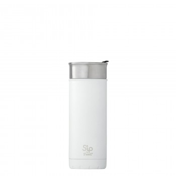 Bouteille Isotherme en Acier Inox 16oz - Blanc - S'ip S'well