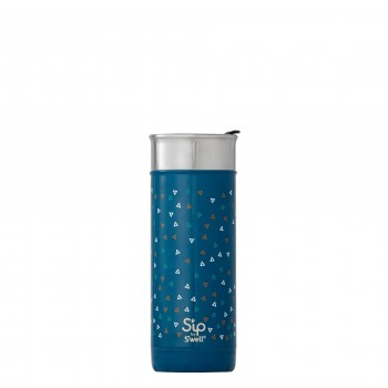 Bouteille Isotherme en Acier Inox 16oz - Bleu & Triangles - S'ip S'well