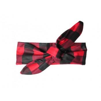 Bandeau de tête 3-12m - Carreau Rouge/noir - Baby Wisp