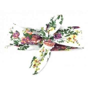 Bandeau de tête 2-12m - Blanc/floral - Baby Wisp