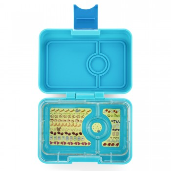Yumbox Mini Snack 3 Compartiments - Bleu Poisson