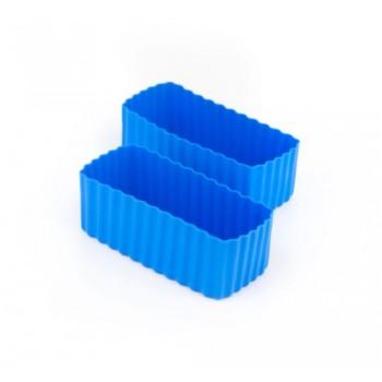 Bento Contenant Rectangulaire 2/pqt - Bleu - Little Lunch Box
