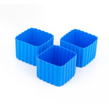 Bento Contenant Carré 3/pqt - Bleu - Little Lunch Box