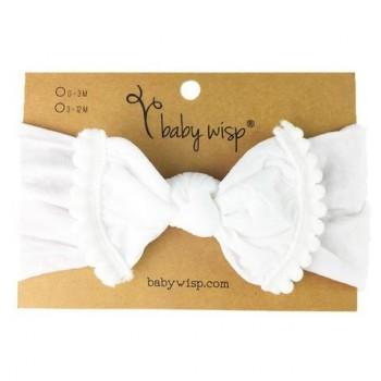 Bandeau Pom Pom Blanc - Baby Wisp