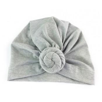 Bonnet à Noeud Turban - Gris - BabyWisp
