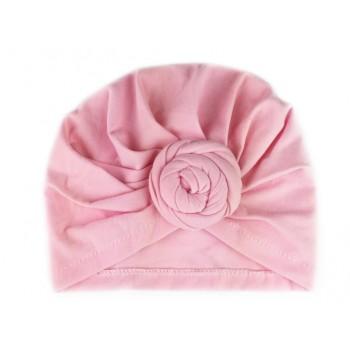 Bonnet à Noeud Turban - Rose Pâle - BabyWisp