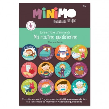 Ma Routine Quotidienne (ens 12 Aimants) - Minimo
