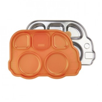 Plateau Repas Inox Din Din Smart - Orange - Innobaby