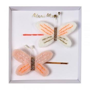 Pinces à Cheveux Papillons 2/pqt - Meri Meri