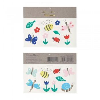 Tatouage Éphémère - Insectes & Fleurs - Meri Meri