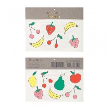 Tatouage Éphémère - Fruits - Meri Meri