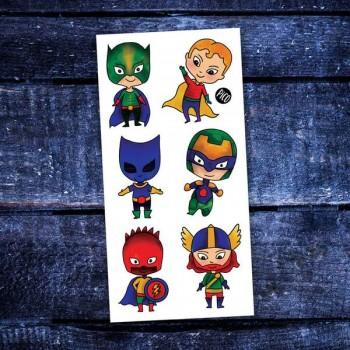Tatouge Temporaire - Les Petits Super-héros - Pico
