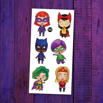 Tatouage Temporaire - Le Petites Super-héroïnes - Pico