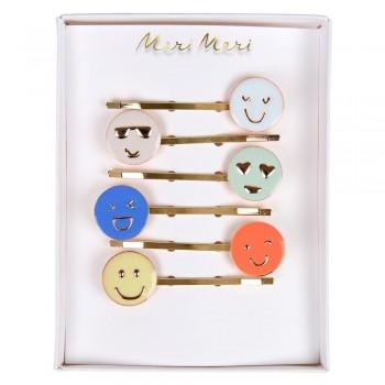 Pinces À Cheveux - Emoji 6/pqt - Meri Meri