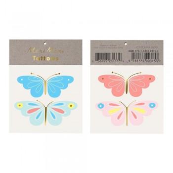 Tatouage éphémère - Papillons - Meri Meri