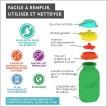 Pochette pour aliments réutilisable Squeasy 6oz-vert