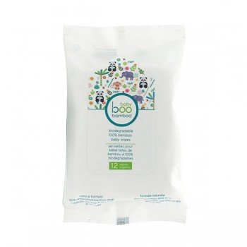 Lingettes Pour Bébé 12/pqt - Biodégradables - Faites de bambou à 100%