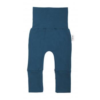 Pantalon évolutif (0-12m) Bleu Sarcelle - Coton Vanille