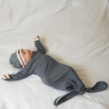 Dormeuse Nightie 0-3m - Bas de Laine Bleu - Juddlies