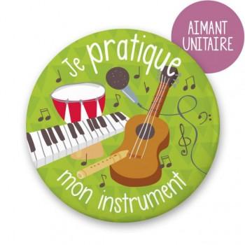 Aimant Je Pratique Mon Instrument - Minimo