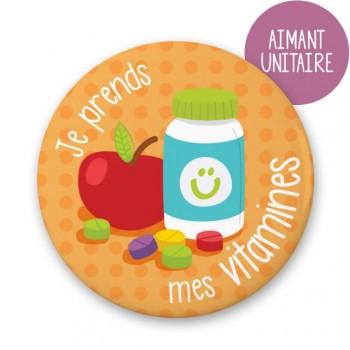 Aimant Je Prends Mes Vitamines - Minimo