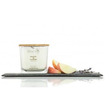 Bougie au Soja 420ml - Pomme Lavande - Blanc Soja