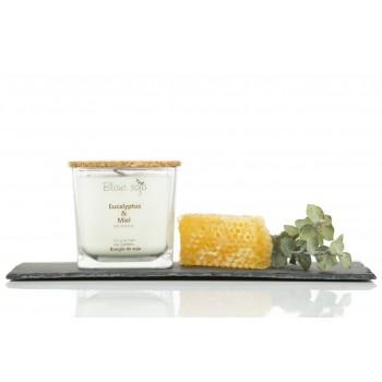 Bougie au Soja 420ml - Eucalyptus Miel - Blanc Soja
