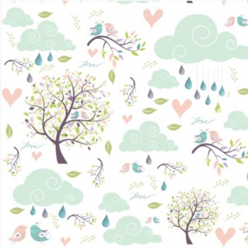 Couverture Minky - Nature Pastel - Oops