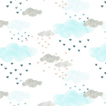 Couverture Minky - Nuage Pastel - Oops