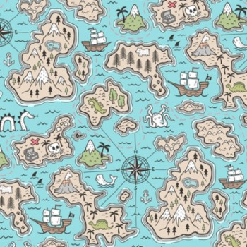 Couverture Minky - Map Fun - Oops