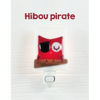 Veilleuse - Hibou Pirate Rouge - Veille Sur Toi