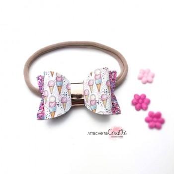 Bandeau - Noeud Papillon La Paillette - Attache Ta Couette