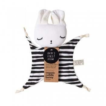 Doudou Coton Biologique - Lapin Stipes - Wee Gallery