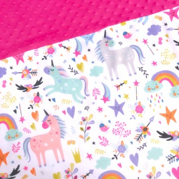 Couverture Minky - Licorne - Oops