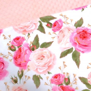 Couverture Minky - Fleur Rose - Oops