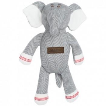 Toutou Coton Biologique - Éléphant Gris - Juddlies