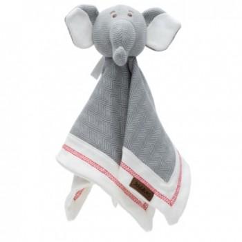 Doudou Coton Organique - Éléphant Gris - Juddlies
