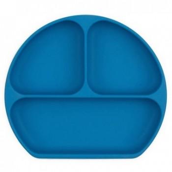 Assiette À Suction En Silicone - Bleu Foncé - Bumkins