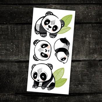 Tatouage Temporaire - Les Pandas Sympas - Pico
