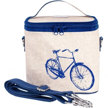Sac À Lunch Grand - Bicyclette Bleu - Soyoung