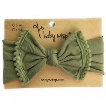 Bandeau Pom Pom Olive - Baby Wisp