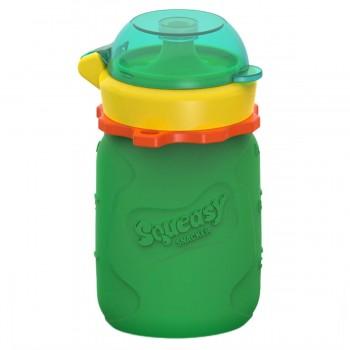Pochette Pour Aliments Réutilisable Squeasy 3.5oz - Vert et jaune