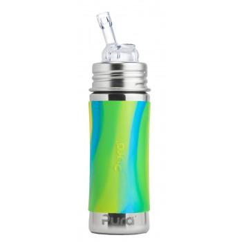 Bouteille en Inox avec Paille 11oz - Swirl Vert - Pura