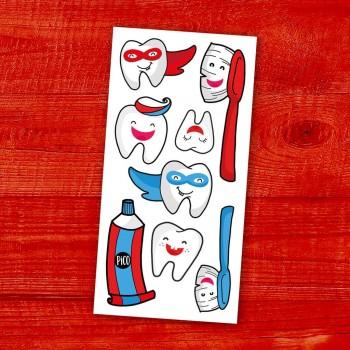 Tatouage Temporaire - Brosse Tes Dents - Pico