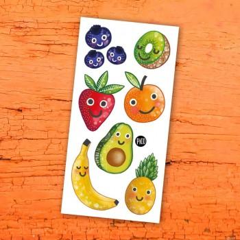 Tatouage Temporaire - Les Fruits En Folie - Pico