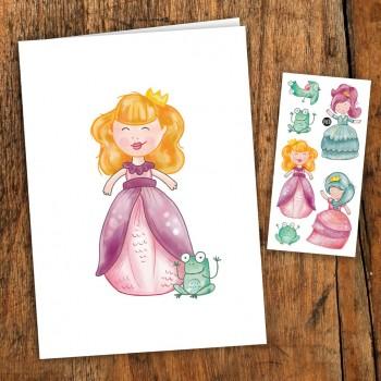 Carte De Souhait Avec Tatouage - Princesses - Pico