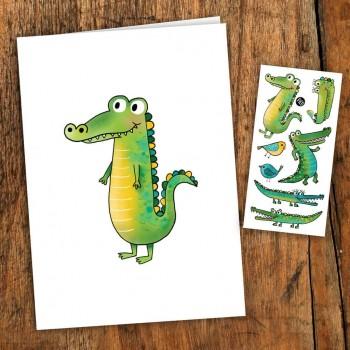 Carte De Souhait - Crocodile - Pico