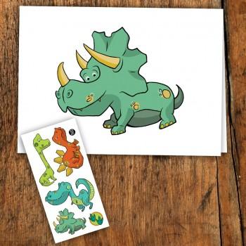 Carte De Souhait - Dinosaure - Pico
