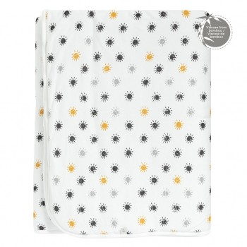 Couverture Extra-large Bambou - Soleil - Perlimpin