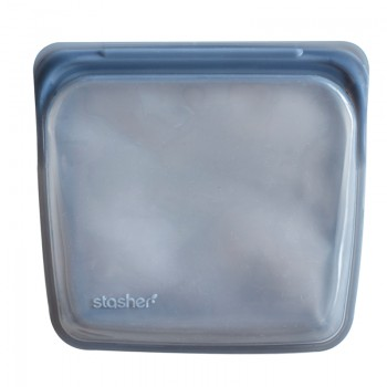 Sac Réutilisable En Silicone - Gris - Stasher - 450ml